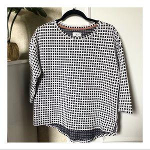 NWOT-LOU & GREY Window Pane Light Pullover Sweater